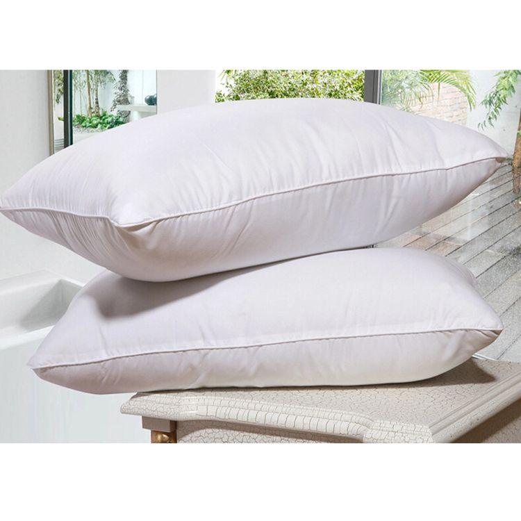 五星级酒店羽绒枕芯白鸭绒鸭毛枕头纯棉羽毛羽绒跨境外贸枕芯定制