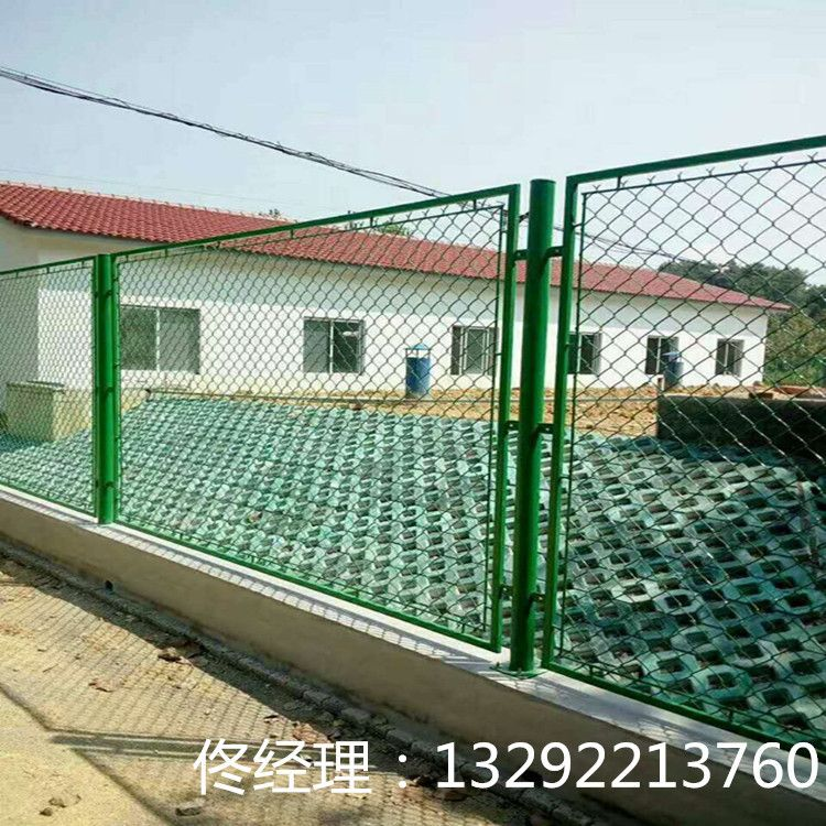 体育场护栏网 篮球场运动场护栏 勾花护栏网 pvc包塑铁丝网