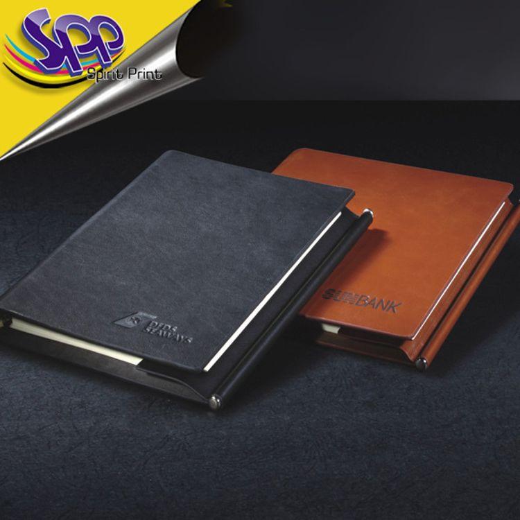 记事本厂家 定做 A5 仿皮PU 平装记事本 商务套装 笔记本