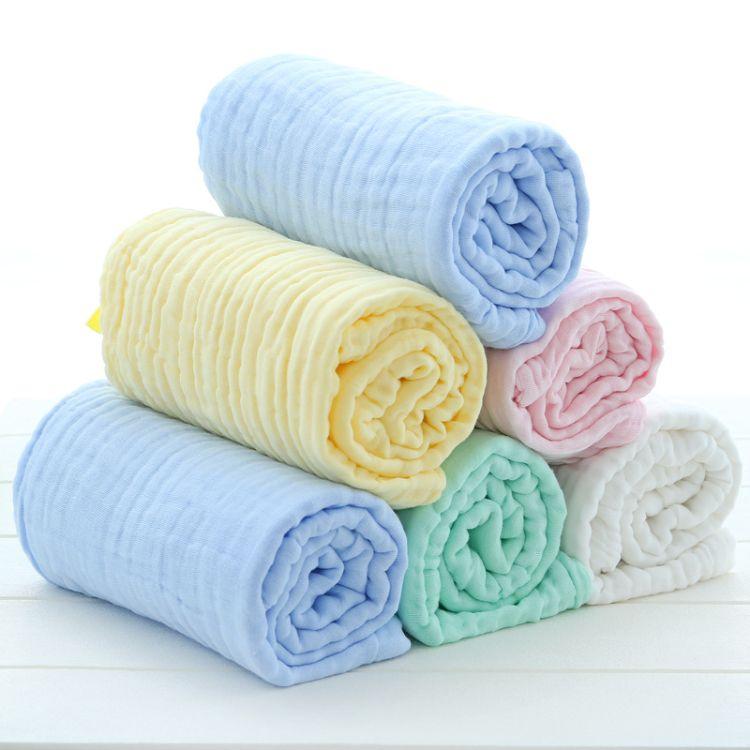 六层纱布童被纯棉秋冬季加厚盖被婴儿包被厂家批发婴童浴巾毛巾被