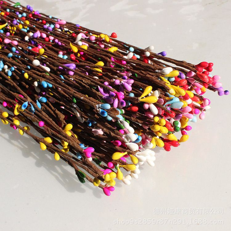 仿真植物藤条40公分 小浆果DIY花环藤条 仿真花环藤条 编织材料