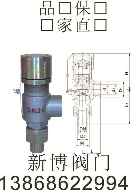 专业生产弹簧全启式安全阀A48Y-16C铸钢安全阀 丝扣安全阀