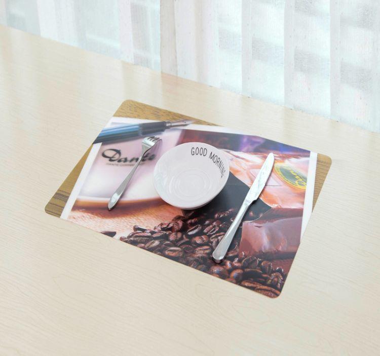 韩版时尚印花餐垫 PP防水隔热垫 环保塑料杯垫桌垫