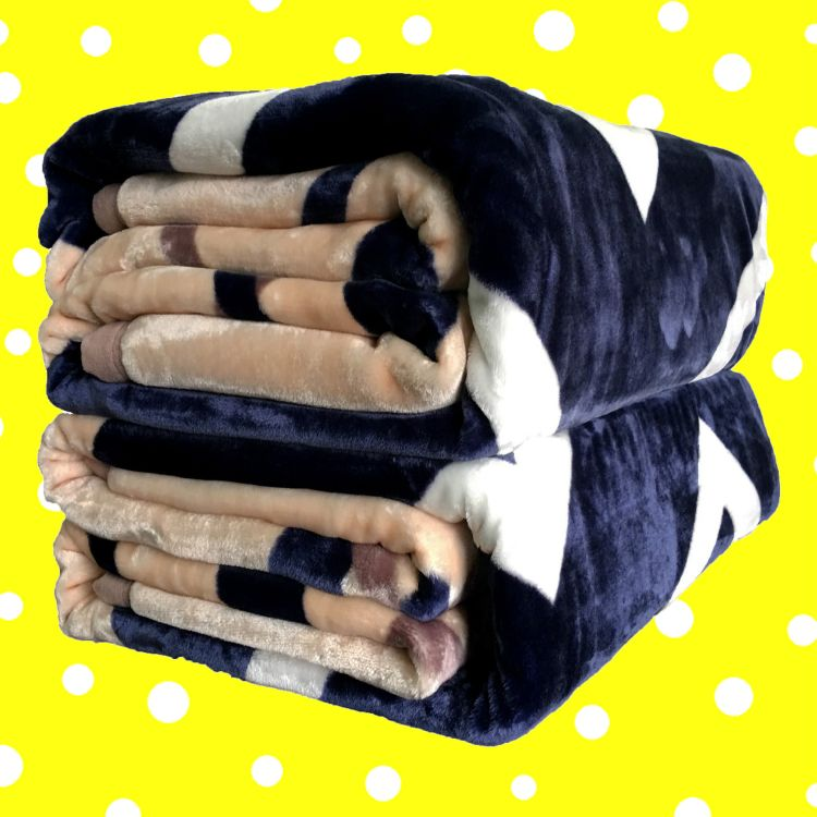 厂家批发拉舍尔毛毯 加厚冬季盖毯子 北欧印花无印风法兰绒毛毯