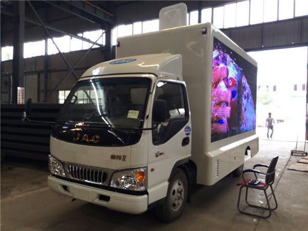 江淮蓝牌高清广告LED宣传舞台车 流动宣传车 中型广告宣传车