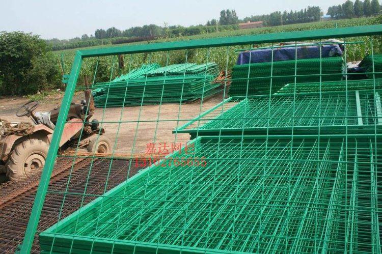 厂家现货批发 高速公路护栏网 框架铁丝网护栏 道路绿色护栏网