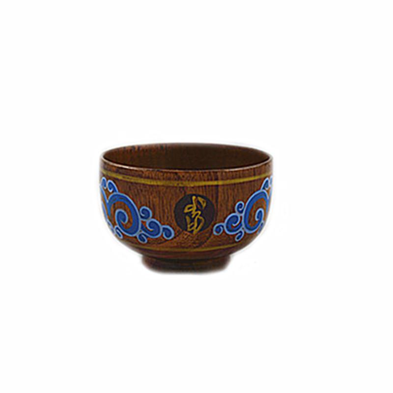厂家直销彩绘纯木木碗 民族用品   内蒙古名族工艺品
