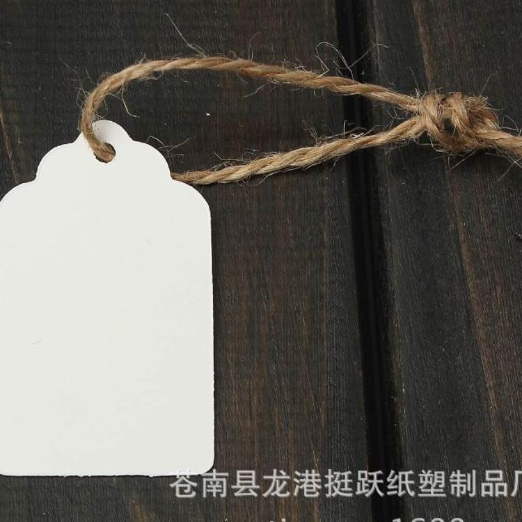 现货 5*3cm波浪头空白牛皮纸吊牌 可书写 标签留言烘焙礼物包装装