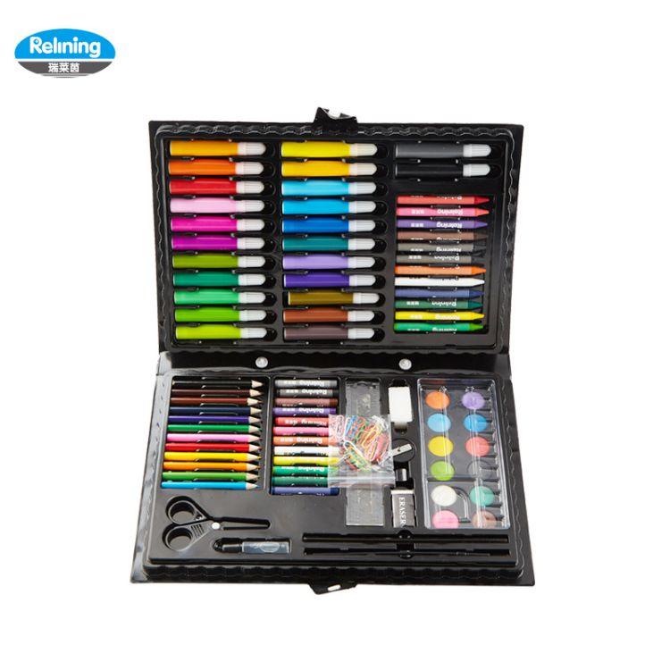 欧洲瑞莱茵儿童水彩笔套装绘画美术画笔文具画画颜料蜡笔开学礼物