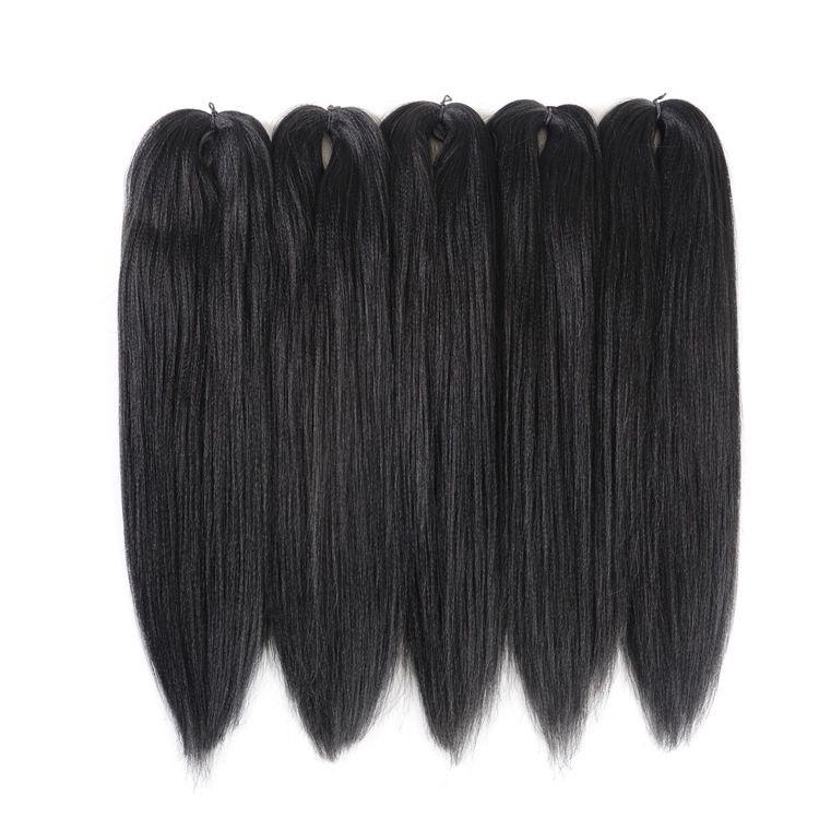 工厂直销黑人辫稍幅度小辫PRE-STRETCHED braiding hair EZ braid