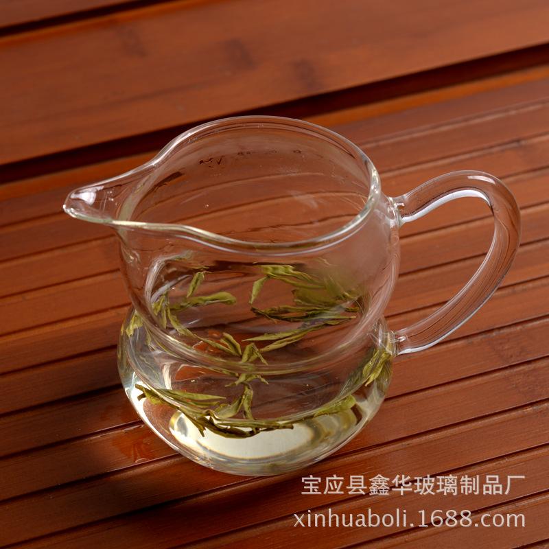 耐热透明玻璃茶具 高硼硅耐热玻璃茶具 玻璃公道杯 玻璃工艺品