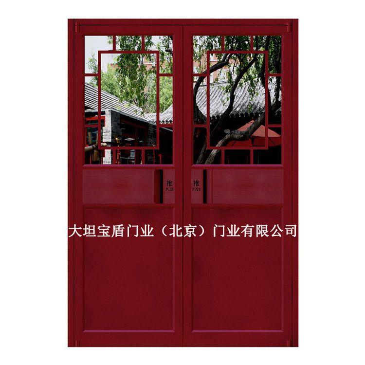 定制中式肯德基门 中式商铺门 中式店面门