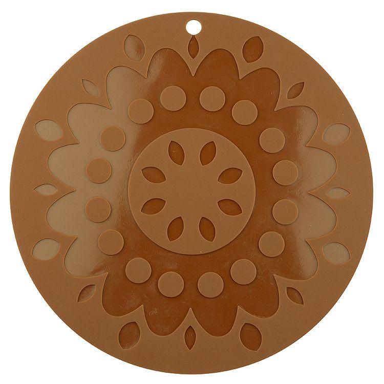 超大24cm山茶花隔热垫硅胶锅垫桌垫多用途防滑垫耐高低温垫