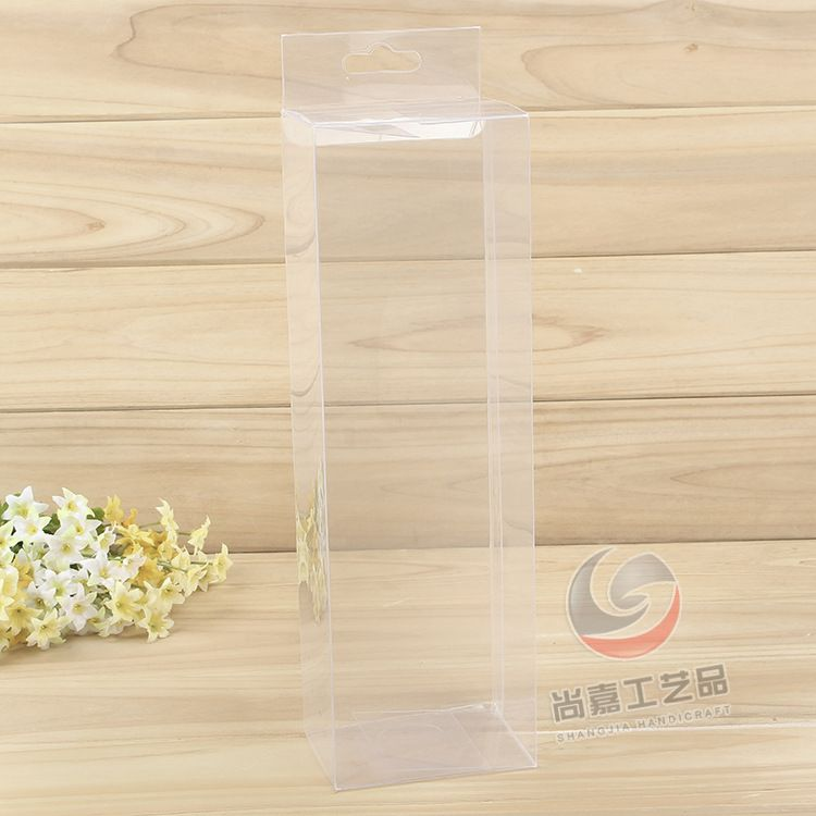 厂家直销透明PVC盒 礼品包装塑料盒 透明挂钩展示盒pvc红包盒