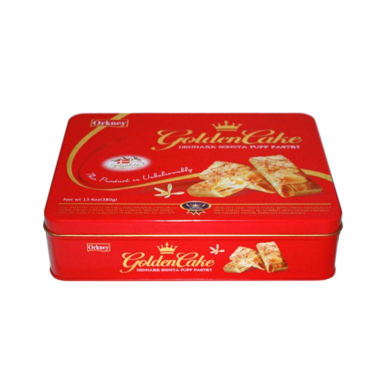 定制方形曲奇饼干铁盒 东莞曲奇马口铁曲奇盒工厂 高档曲奇金属盒