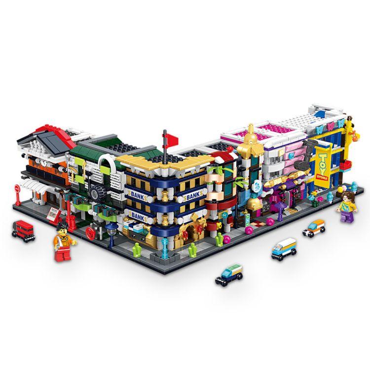 华达潘洛斯益智拼装小颗粒积木 儿童启蒙拼插早教积木玩具