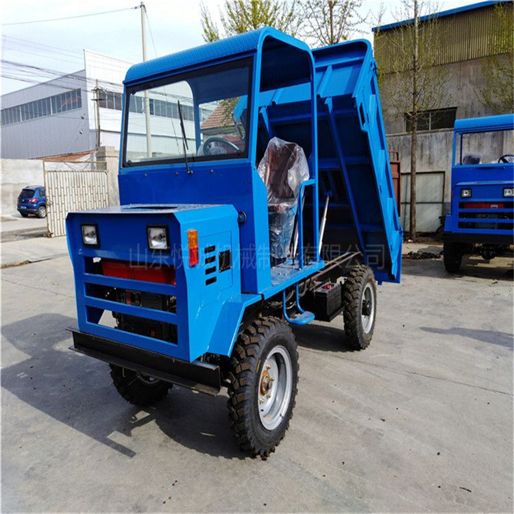 自卸爬坡王   定制四驱农用四轮运输车 大马力柴油四轮拖拉机
