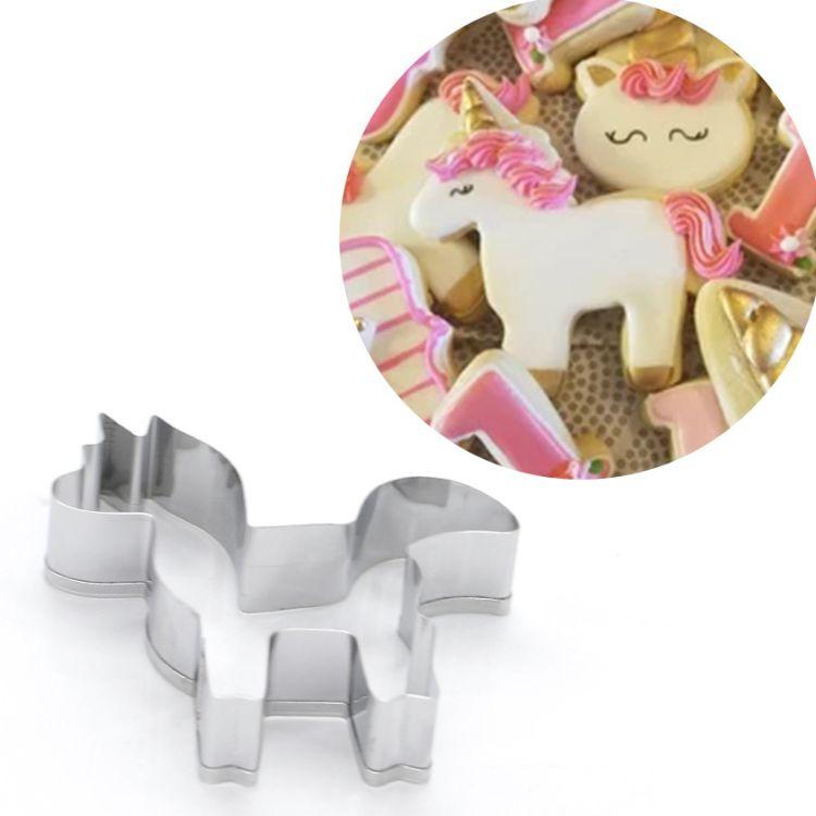 不锈钢饼干模具 卡通动物独角兽切模 翻糖糖霜饼干模 DIY烘焙