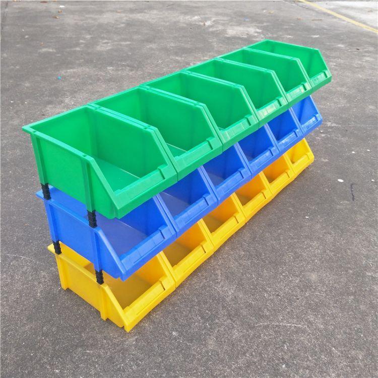 加厚斜口塑料盒组合式零件盒物料盒组立元件盒螺丝盒工具盒货架子