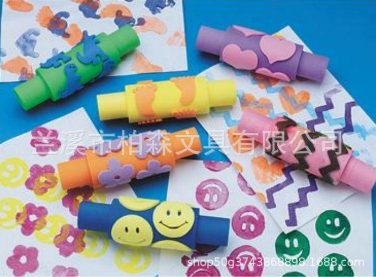 EVA儿童笑脸印章 幼儿园涂鸦diy创意玩具 彩色EVA儿童卡通印章