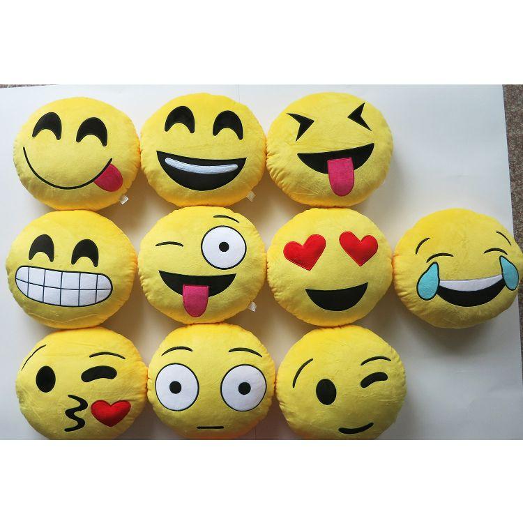玩具批发 厂家直销 QQ表情抱枕 卡通创意玩具笑脸 靠枕 抱枕