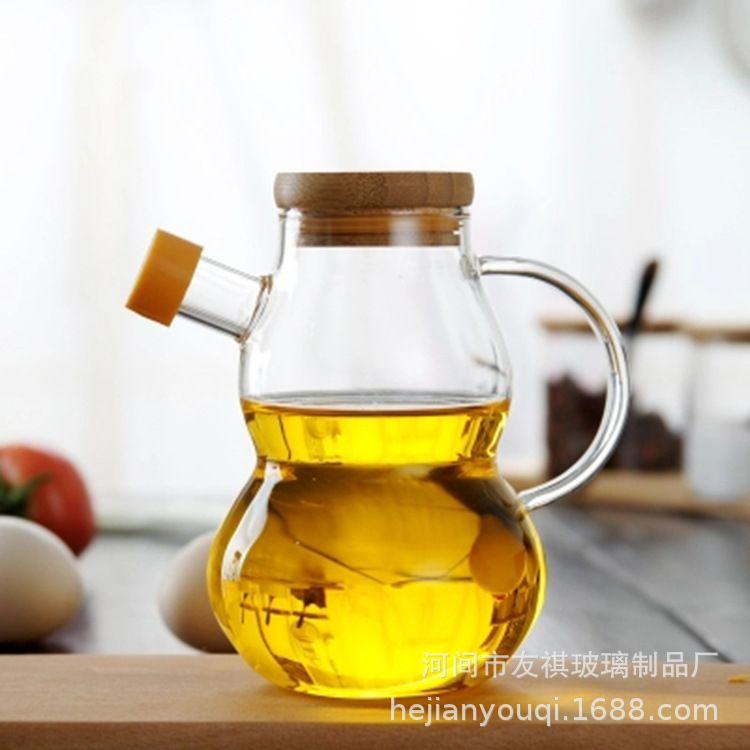 创意大小号无铅玻璃倒油壶厨房防漏装油瓶醋酱调料瓶麻油壶家用