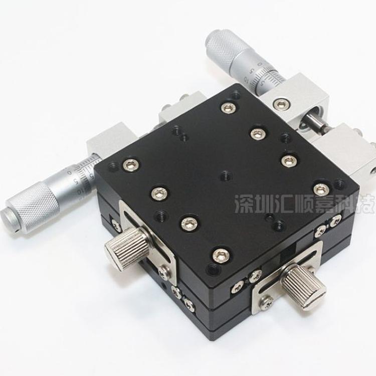 厂家直销60*60XY轴薄型微调架可调平台LY60-LM高精度手动位移滑台