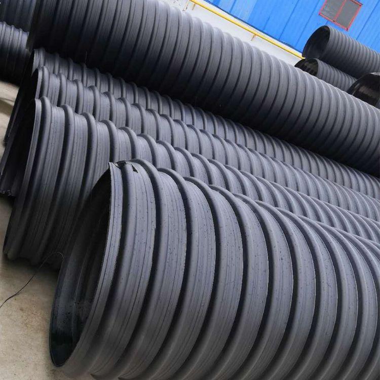 HDPE钢带增强聚乙烯螺旋波纹管300 400厂家 钢带增强螺旋管价格