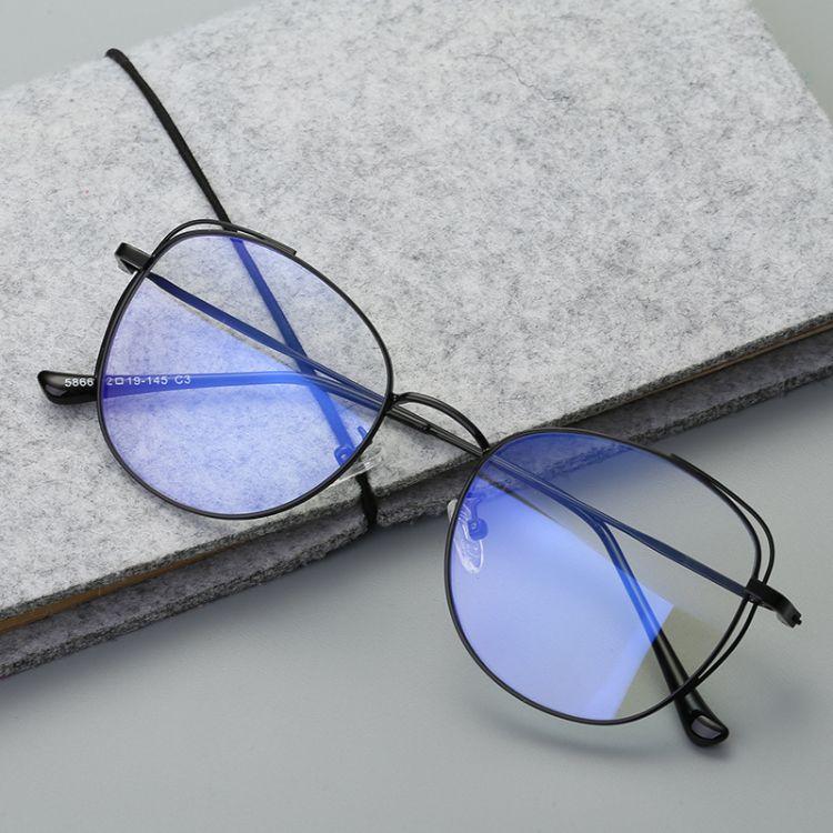 2018新款金屬潮流 防藍光時尚眼鏡 光學鏡 眼鏡框眼鏡架復古 5866