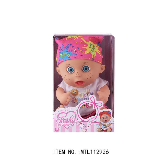 儿童玩具 外贸爆款 8寸音乐娃娃 搪胶公仔娃娃