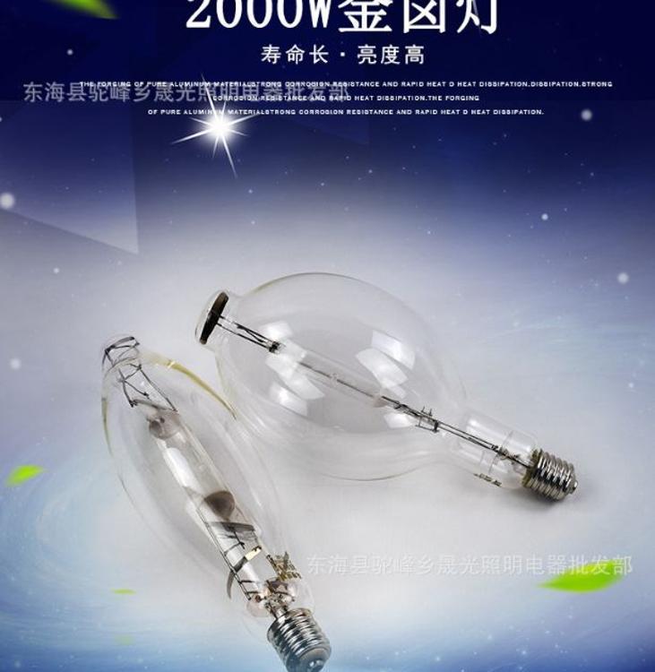 亚明照明2000W建筑之星灯泡 塔吊灯大功率户外投光灯亚明投光灯