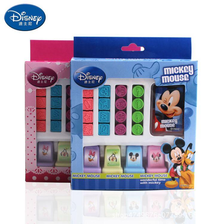 迪士尼印章套装 新款米奇米妮文具印章套装 儿童印章玩具DM0268-5