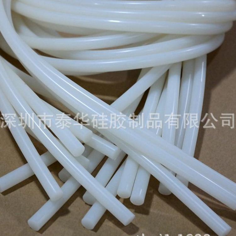 实心硅胶管圆形实心硅胶条圆形乳白色硅胶管圆形白色硅胶条