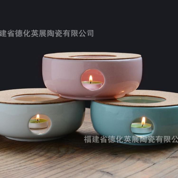 厂家直销 耐高温陶瓷花茶壶茶具套装蜡烛保温加热底座批发定制