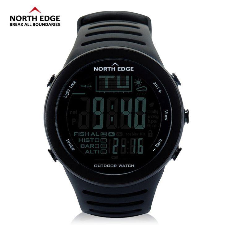 跨境户外运动钓鱼手表NORTH EDGE适钓提醒多功能运动手表錶军表