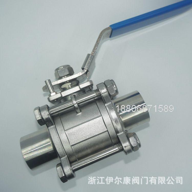 手动焊接球阀316L卫生级三片式球阀316L三片式焊接球阀不锈钢球阀