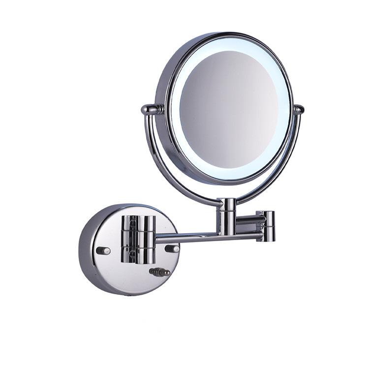 温州华仕雅HSY1001LED梳妆镜 拉丝仿古青古镐金 化妆镜美容镜 浴