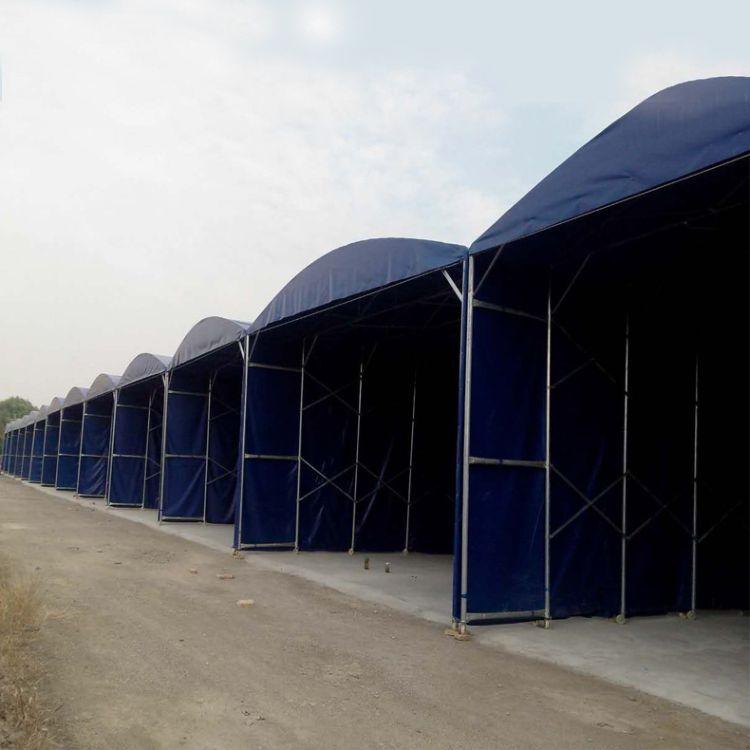 安装大型移动仓库推拉篷 盐城市户外伸缩推拉棚 工厂临时仓库雨蓬