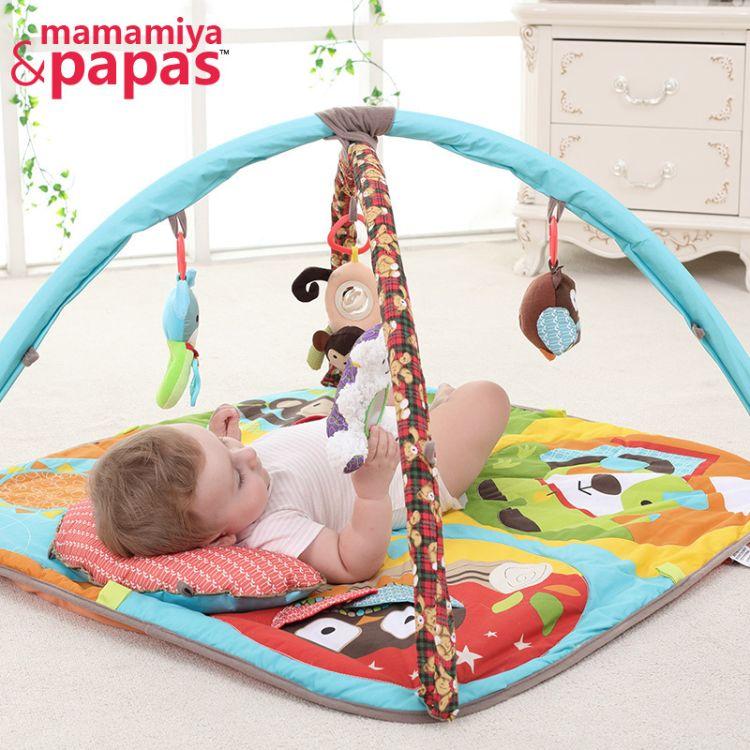 可爱卡通动物森林毯子优质婴儿游戏毯 爬行毯 厂家直销
