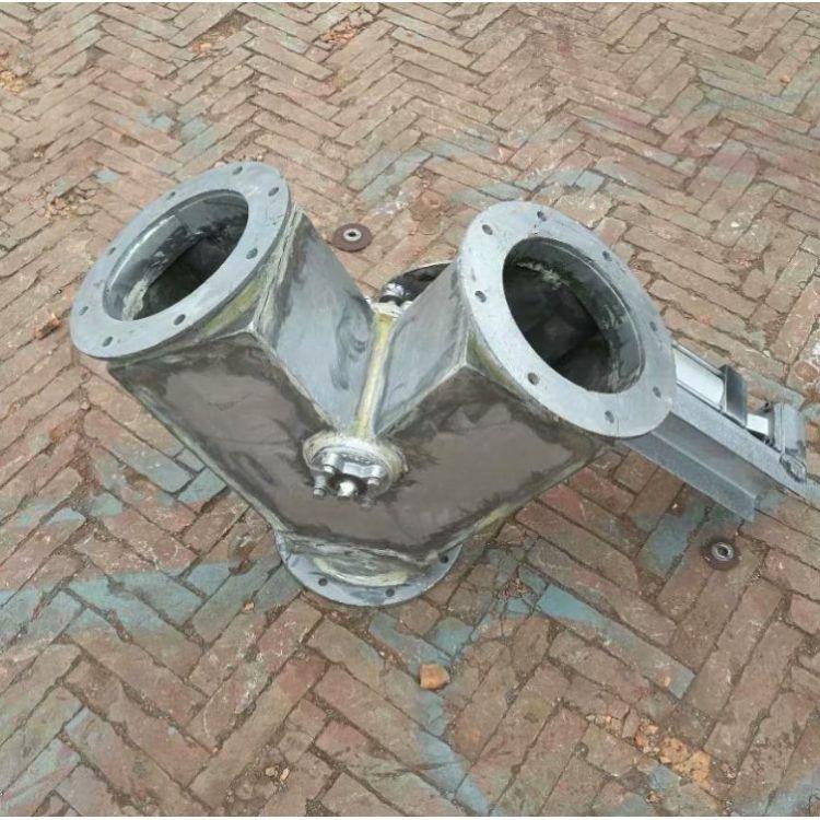 旋力直销 不锈钢电动气动三通阀 进料口三通翻板阀 Y型换向阀 分料器