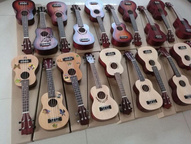 尤克里里ukulele工厂直销21寸/23寸/26寸/库存尾单四弦小吉他批发