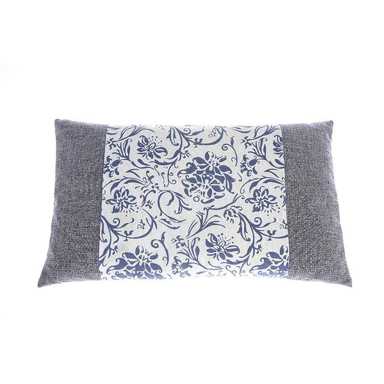 艾草蕲艾绒枕头复古青花瓷花纹艾绒枕头 艾灸馆家用艾灸枕直销