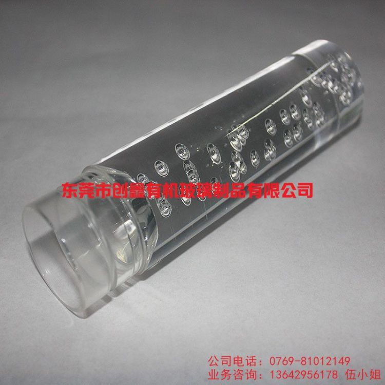 圆形 彩色 透明 气泡 有机玻璃棒 厂家定做亚克力有机玻璃制品