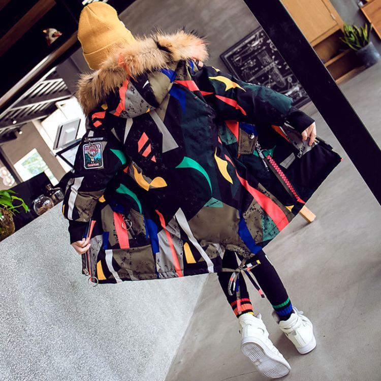 女童棉服2018新款外套中大童女孩洋气棉袄儿童中长款加厚棉衣冬装