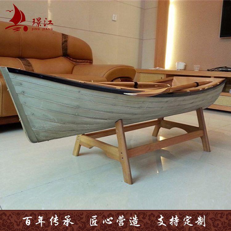 厂家直销 木质工艺品大船 地中海装饰件船柜 创意木质工艺品摆件