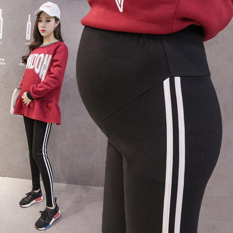 实拍2018春款孕妇打底裤孕妇裤孕妇装秋冬外穿打底托腹裤长裤