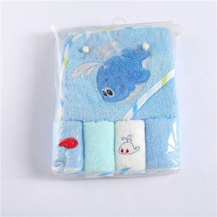 厂家定做A类婴幼儿童毛巾 绣卡通绣花竹纤维毛巾纯棉儿童浴巾抱被