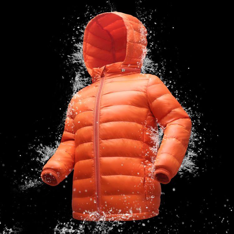 秋冬新款童装儿童羽绒服轻薄款宝宝90绒羽绒衣大中小男女童装外套