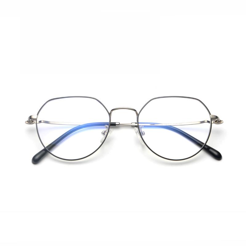 时尚个性白领近视金属眼镜框可配近视眼镜架近视眼镜框平光镜批发