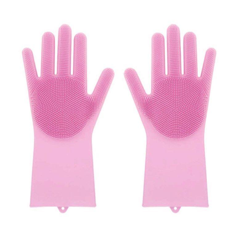 硅胶洗碗手套 魔术洗碗刷 硅胶手套 毛刷手套 魔术硅胶手套